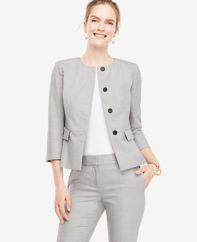 Image of Petite Grisaille Peplum Jacket