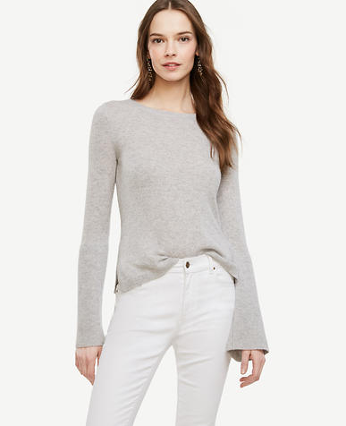 Image of Cashmere Fluted Sleeve Sweater