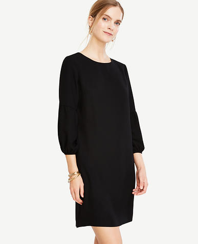 Image of Petite Lantern Sleeve Shift Dress