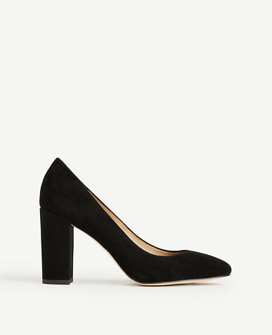 Emeline Suede Block Heel Pumps