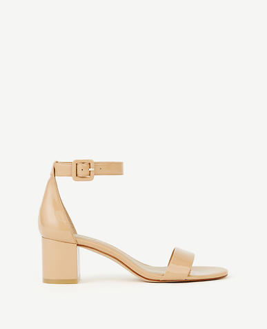 May Patent Block Heel Sandals