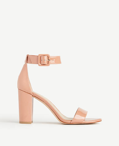 Image of Leda Patent Leather Block Heel Sandals