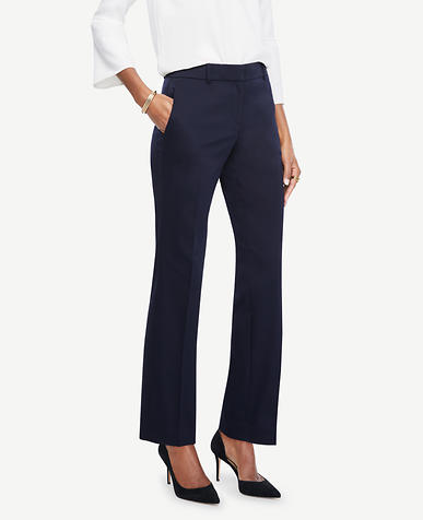 Image of The Petite Straight Leg Pant in Cotton Sateen - Ann Fit