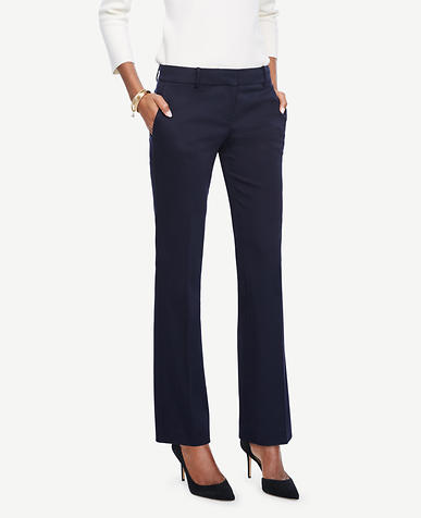 Image of The Petite Straight Leg Pant in Cotton Sateen - Devin Fit