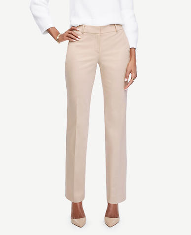 The Tall Straight Leg Pant in Cotton Sateen - Ann Fit