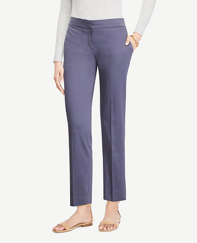 Image of The Tall Ankle Pant In Cotton Sateen - Devin Fit