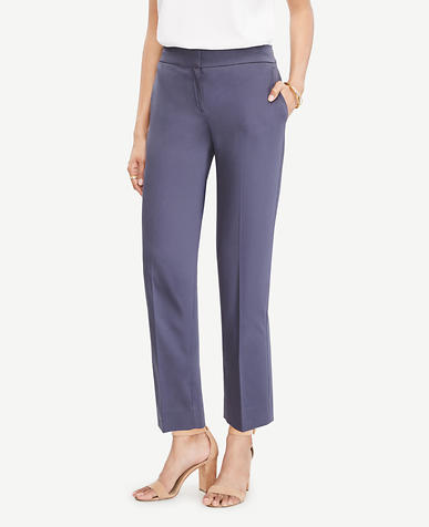 Image of The Tall Ankle Pant In Cotton Sateen - Kate Fit