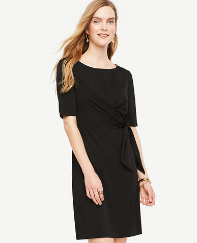 Image of Petite Tied Matte Jersey Dress