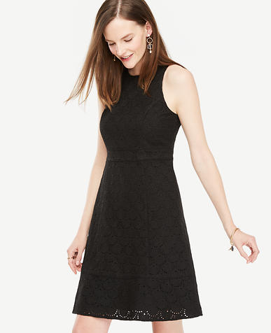 Image of Petite Eyelet Flare Dress