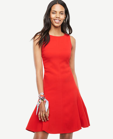 Image of Petite Strappy Back Flare Dress