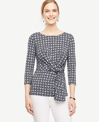 Image of Tossed Leaf Side Tie Top