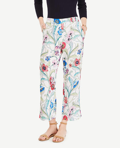 Image of The Wide Leg Crop Pant in Jungle Floral