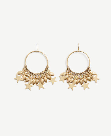Image of Star Charm Hoop Earrings