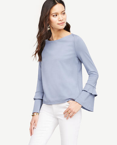 Image of Double Flare Sleeve Top