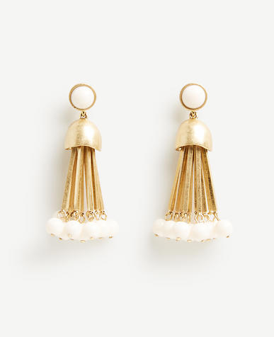 Image of Metal Tassel Earrings