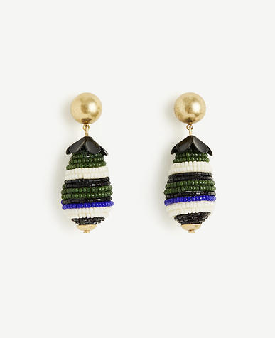 Image of Seed Bead Drop Earrings
