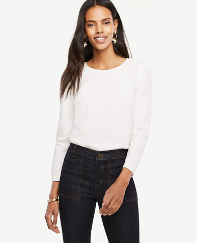 Image of Ponte Puff Sleeve Top