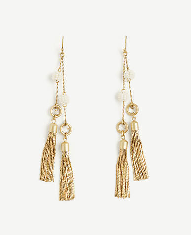 Image of Seed Bead Tassel Earrings