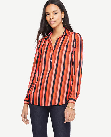 Image of Striped Camp Shirt
