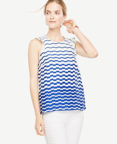 Image of Blurred Stripe Top