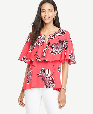 Image of Floral Tiered Ruffle Top