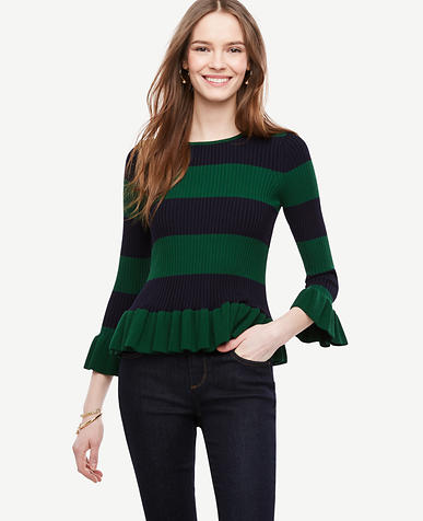 Image of Flared & Striped Sweater