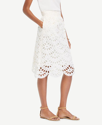 Image of Scallop Eyelet Full Skirt