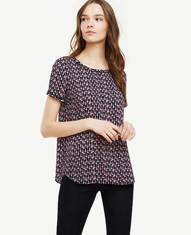 Image of Petite Tassel Piped Tee