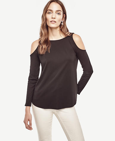 Image of Petite Cold Shoulder Top