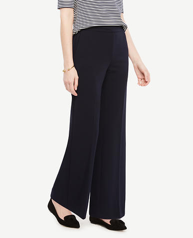 Image of The Petite Wide Leg Pant in Knit Crepe