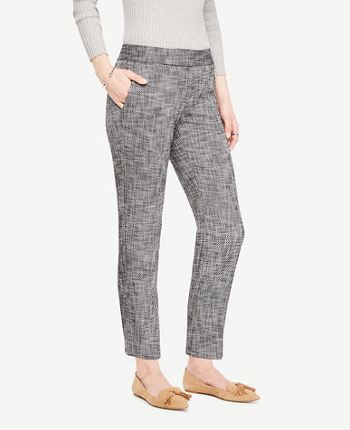 Image of The Petite Ankle Pant in Textured Stretch - Devin Fit