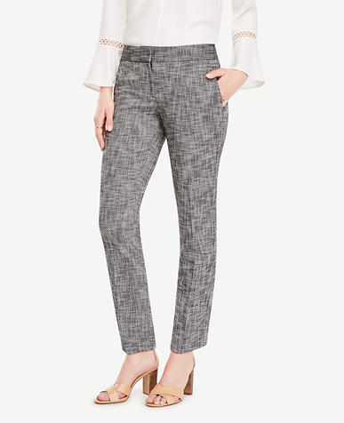 Image of The Petite Ankle Pant in Textured Stretch - Kate Fit