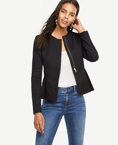 Image of Petite Stitched Peplum Jacket