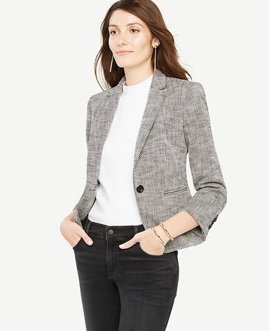 Image of Petite Basketweave Blazer