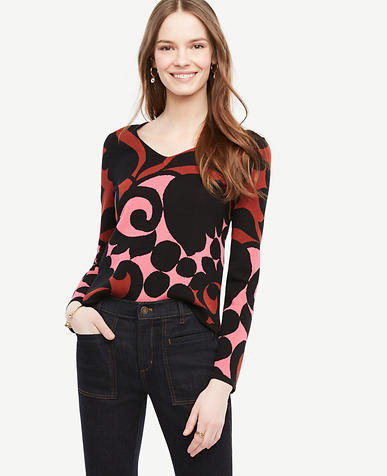 Image of Tulip V-Neck Sweater