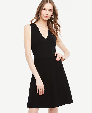 Image of Petite Crossover Back Flare Dress