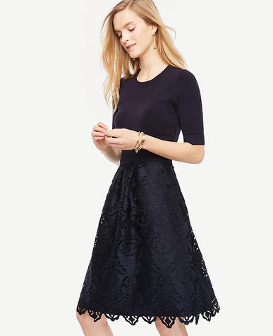 Image of Petite Lace Skirt Dress