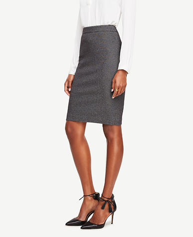 Image of Curvy Textured Pencil Skirt