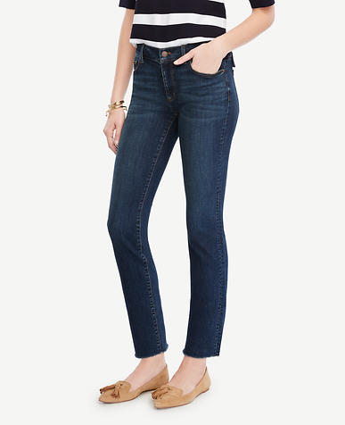 Image of Petite Raw Edge Crop Jeans