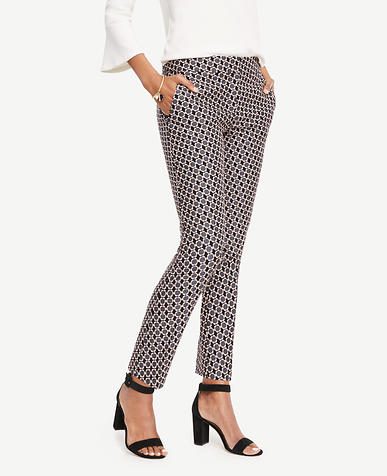 Image of The Tall Ankle Pant in Daisy Jacquard - Kate Fit