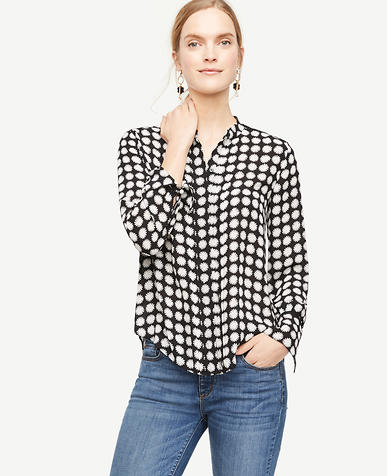 Image of Daisy Cutout Pleated Blouse