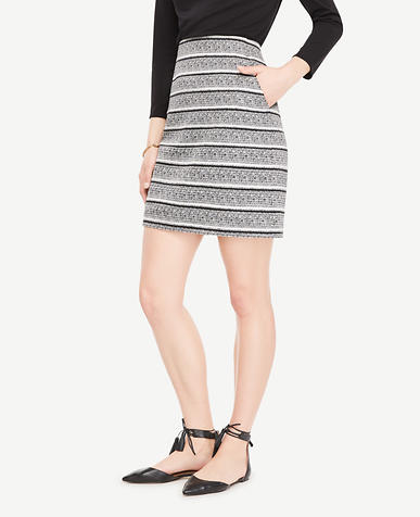 Image of Tall Textured Stripe Skirt