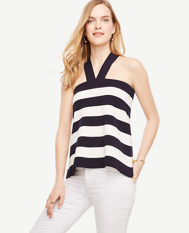 Image of The Striped Halter Sweater