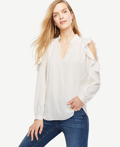 Image of Petite Bare Shoulder Blouse