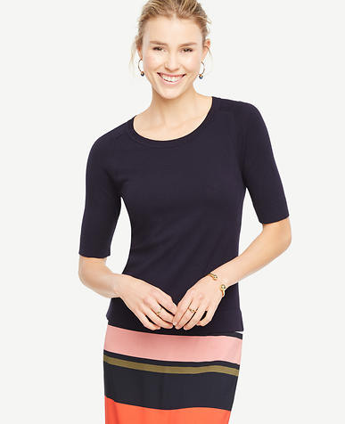 Image of Petite Short Sleeve Sweater