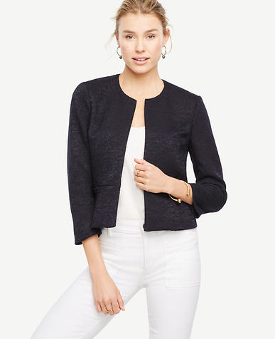 Image of Petite Textured Open Jacket