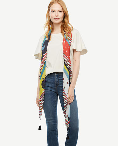 Image of Fruit Medley Tassel Scarf
