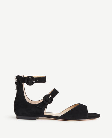 Image of Ivette Suede Strappy Sandals