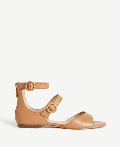 Image of Ivette Leather Strappy Sandals