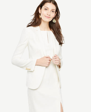 Image of Longline Linen Blend Blazer